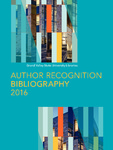 2016 Author Recognition Bibliography by Grand Valley State University