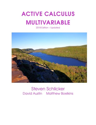 Active Calculus Multivariable: 2018 Edition
