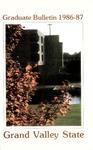 GVSC Graduate Bulletin, 1986-1987