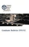 GVSU Graduate Bulletin, 1991-1992