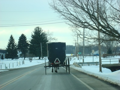 Amish area in Ohio