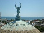 View of Black Sea from the platform of the Mosque in Konstanza, Romania