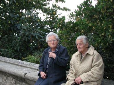 Italian women visiting