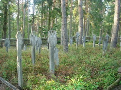 Cemetery in Nida, Curonian Spit, Lithuania