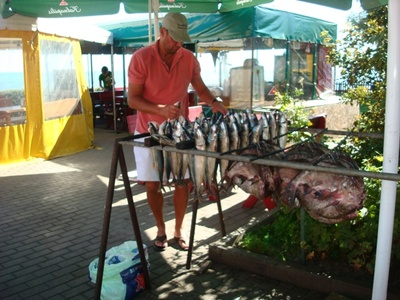 Smoking fish in Nida, Curonian Spit, Lithuania
