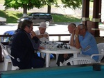 Chess players in Zlanic, Romania
