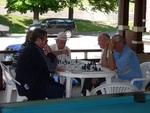 Chess players in Zlanic, Romania