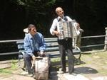 Street musicians in Zlanic, Romania
