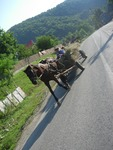 A horse and cart in Romania