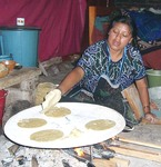 Making tortillas in Chiapas, Mexico, a field site for Patricia Greenfield,  Ashley Maynard, and students.