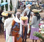 Central market of the city of Foumban, Cameroon. Foumban is in the Islamic region of west-central Cameroon. (Post-conference tour, 4th Africa Region Conference, 2009)