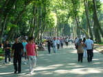 Sunday walk in the Gulhane park in Istanbul, Turkey
