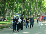 A Sunday walk in the Gulhane Park in Istanbul, Turkey