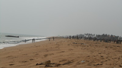 Fishermen in Grand-Popo, Benin