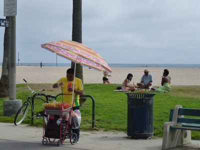 Vendors and Healers at Venice Beach, Los Angeles