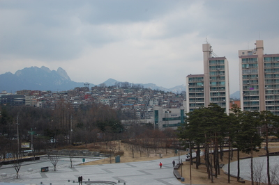 A cold afternoon in Seoul