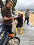 Selling octupus - fishermen in Punta Umbria (Spain)