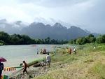 Boat Racing Festival in Vang Vieng, Laos
