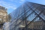 L'entree au Musee du Louvre a Paris, France