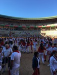 In the ring at Pamplona after the running with the bulls by Mykalanne Jones